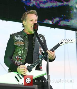 James Hetfield of Metallica The Download Festival 2012 at Donington Park Derby, England - 09.06.12