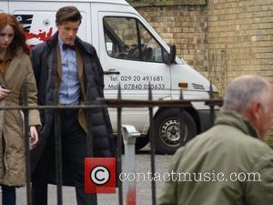 Karen Gillan and Matt Smith Dr Who producers have turned Cardiff into modern day London during the filming of forthcoming...