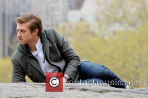 Arthur Darvill Matt Smith (The Doctor) with Karen Gillan (Amy) and Arthur Darvill (rory) filming 'Dr Who' in Central Park,...