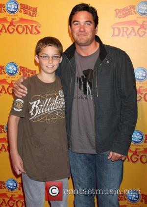 Dean Cain and son (in brown)  'Dragons' presented by Ringling Bros. & Barnum & Bailey Circus at Staples Center...
