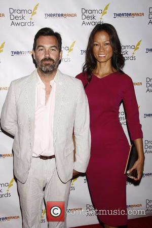 Duncan Sheik and Guest  Drama Desk Awards 2012 held at the Town Hall Theatre in Midtown Manhattan. New York...