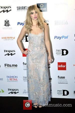Suki Waterhouse,  at the Drapers Fashion Awards at Grosvenor House. London, England - 21.11.12