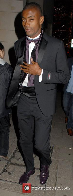 Salomon Kalou The Didier Drogba Foundation Charity Ball held at The Dorchester - Outside Arrivals  London, England - 10.03.12