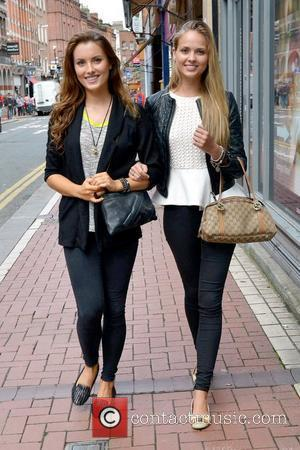 Miss Ireland 2011 Holly Carpenter and Miss England 2011 Alize Lily Mounter  The two beauties walking along Exchequer Street...