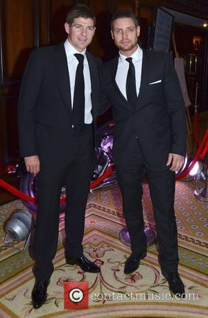 Steven Gerrard and Keith Duffy