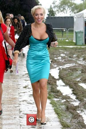 Aisleyne Horgan-Wallace arrives for the 2012 Duke of Essex Polo Trophy at Gaynes Park, Epping Essex, England - 14.07.12