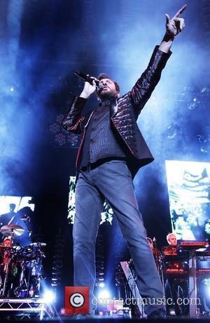 Simon Le Bon Duran Duran performing at Liverpool Echo Arena Liverpool, England - 10.12.11