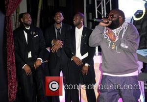 LeBron James, Udonis Haslem, Dwyane Wade and Rick Ross  Dwyane Wade's 30th Birthday Celebration at Setai Hotel  Miami...