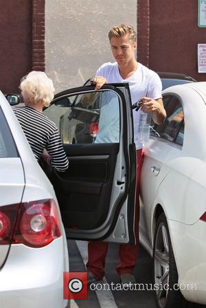 Derek Hough and his grandmother Celebrities seen outside the rehearsal space for 'Dancing With the Stars' Los Angeles, California -...