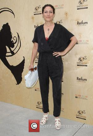 Lisa Edelstein at the 'Last Night I Swam With a Mermaid' book launch Earth day celebration held at the Annenberg...