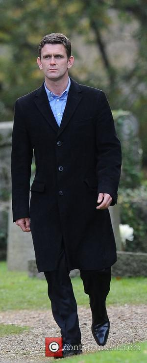 Scott Maslen ( who plays Jack Branning ) 'Eastenders' cast filming scenes at a Church cemetery Hertfordshire, England - 30.10.12