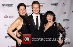 Stephanie J. Block, Will Chase and Chita Rivera  at the after party for 'The Mystery of Edwin Drood' at...