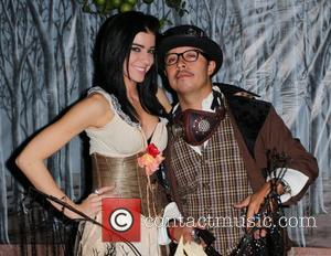 Efren Ramirez and Kimberly Bishop Efren Ramirez hosts his Annual Halloween Party in Beverly Hills Los Angeles, California - 28.10.12