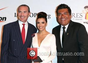 Alex Yemenidijian, Eva Longoria and George Lopez