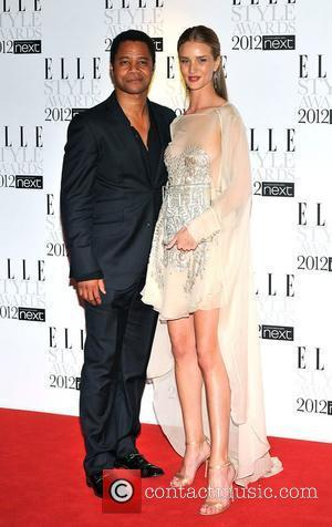 Rosie Huntington-whiteley and Cuba Gooding Junior