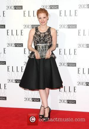 Jessica Chastain, Next Future Icon winner The Elle Style Awards 2012 held at The Savoy - Press Room London, England...