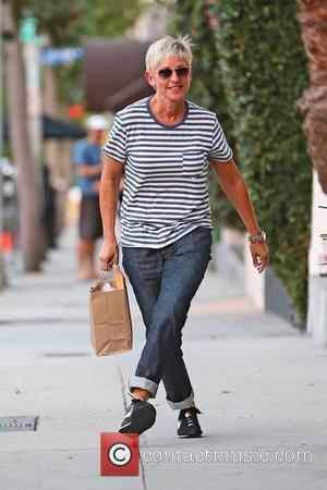 Ellen DeGeneres exits Salon Benjamin in West Hollywood. Los Angeles, California - 17.08.12