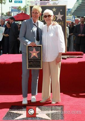 Ellen DeGeneres and her mother, Betty DeGeneres Ellen DeGeneres is honored with a star on The Hollywood Walk Of Fame...