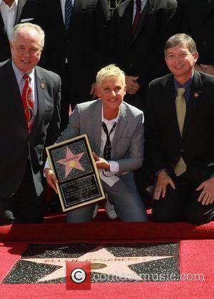Ellen DeGeneres Ellen DeGeneres is honored with a star on The Hollywood Walk Of Fame Los Angeles, California - 04.09.12