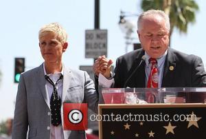 Ellen DeGeneres, Tom Labonge Ellen DeGeneres is honored with a star on The Hollywood Walk Of Fame Los Angeles, California...