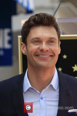 Ryan Seacrest and Star On The Hollywood Walk Of Fame