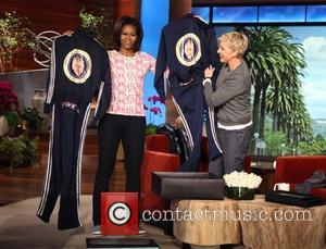 Michelle Obama appears on 'The Ellen Degeneres Show' to do a quick workout with Ellen USA - 01.02.12  This...