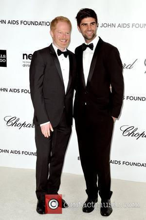 Justin Mikita and Jesse Tyler Ferguson  The 20th Annual Elton John AIDS Foundation's Oscar Viewing Party held at West...