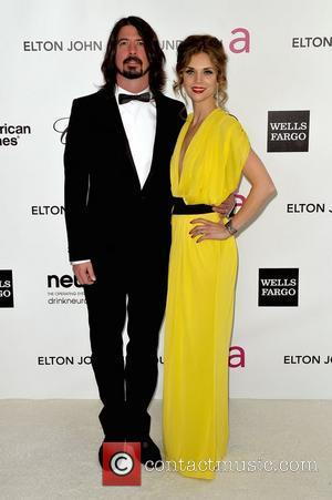 Dave Grohl and Jordyn Blum  The 20th Annual Elton John AIDS Foundation's Oscar Viewing Party held at West Hollywood...