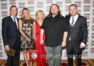 Claire Jones, director Ben Wheatley and MyAnna Buring, Best Horror winner 'The Kill List' The 2012 Jameson Empire Awards held...
