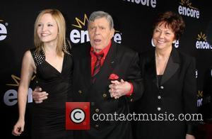 Daughter Danielle Sarah Lewis, Jerry Lewis, wife SanDee Pitnick  LA Premiere of Encore's Method To The Madness Of Jerry...