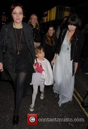 Pearl Lowe, Betty Lowe and Daisy Lowe English National Ballet Christmas party held at the Martins Lane Hotel - Outside...
