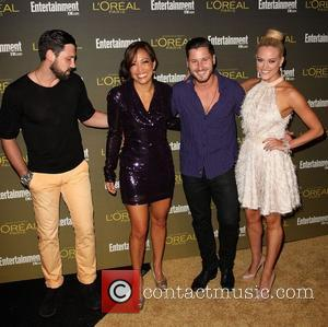 Maksim Chmerkovskiy, Carrie Ann Inaba, Valentin Chmerkovskiy and Peta Murgatroyd 2012 Entertainment Weekly Pre-Emmy Party at the Fig & Olive...