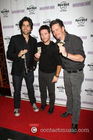 Adrian Grenier, Kevin Connolly, Kevin Dillon Cast of 'Entourage' launch 'Backstage Rewards Program' at Hard Rock Hotel and Casino at...