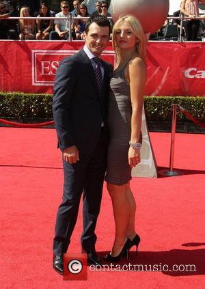Tony Dovolani and his wife Lina Dovolani 2012 ESPY Awards - Red Carpet Arrivals at the Nokia Theatre L.A. Live...