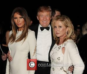 Melania Trump, Donald Trump and Kathy Hilton