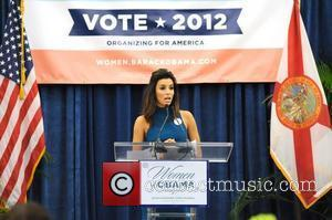 Eva Longoria speaks at an Obama For America Women's Summit event at Miami Dade College . Miami , Florida -...