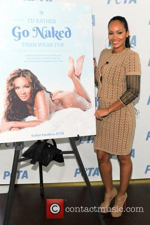 'Basketball Wives' star Evelyn Lozada unveils her new 'I'd Rather Go Naked Than Wear Fur' campaign  for PETA held...