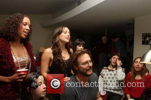 Lisa Mae Brunson, Brianna Evigan, Greg Evigan at Christmas dinner at the Evigan family home. Woodland Hills, California - 25.12.11