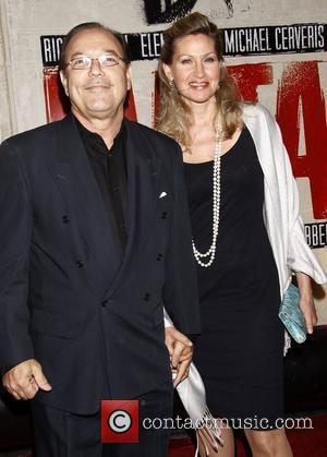 Ruben Blades and Luba Mason    Broadway opening night of 'Evita' at the Marquis Theatre – Arrivals...