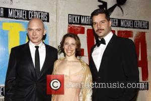 Michael Cerveris, Elena Roger and Ricky Martin  Broadway opening night after party for 'Evita' at the Marriott Marquis Hotel...