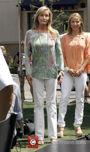 Bo Derek at The Grove in West Hollywood for a taping of the entertainment show 'Extra' Los Angeles, California -...