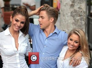 Maria Menounos, Derek Hough and Shawn Johnson
