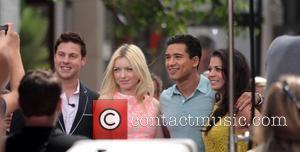 Dina Eastwood and Mario Lopez