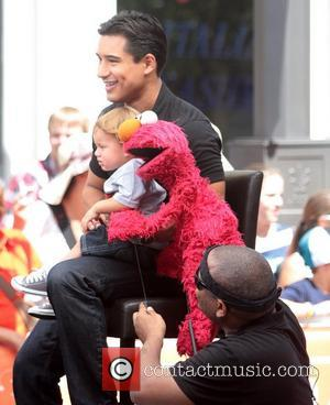 Mario Lopez, Kevin Clash and Elmo