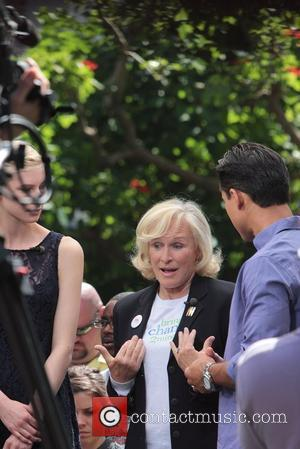 Actress Glenn Close  Celebrities at The Grove to appear on entertainment news show 'Extra'  Los Angeles, California -...