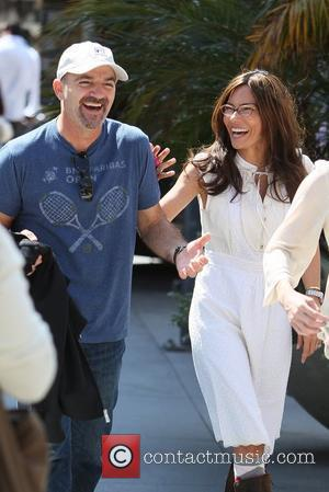 Vanessa Marcil appear on the entertainment news show 'Extra' at The Grove  Los Angeles, California - 27.04.12