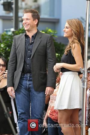 Michael Weatherly and Maria Menounos