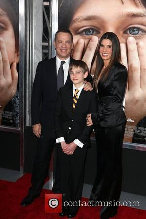 Tom Hanks, Sandra Bullock, Thomas Horn and Ziegfeld Theatre