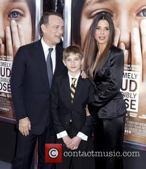Tom Hanks, Sandra Bullock, Thomas Horn and Ziegfeld Theatre