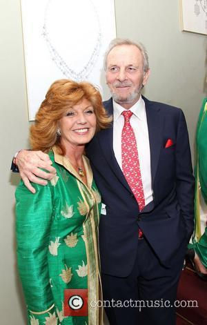 Rula Lenska and Mark Shand attending the Faberge Big Egg Hunt Champagne Countdown party at Quintessentially London, England - 18.01.12